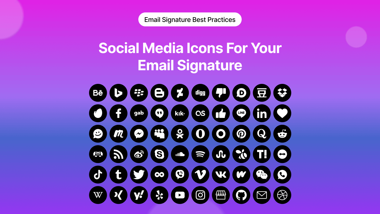 Social Media Icons For Your Email Signature